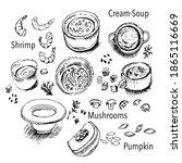 mushroom  pumpkin  vegetable... | Shutterstock .eps vector #1865116669