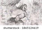 Beautiful Graphic Drawn Pegasus ...