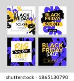 black friday sale banner... | Shutterstock .eps vector #1865130790