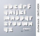 paper alphabet. vector. | Shutterstock .eps vector #186514004