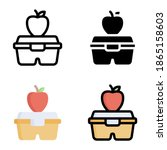 lunch box icon vector... | Shutterstock .eps vector #1865158603
