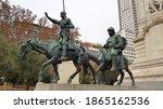 Statue Of Don Quixote And...