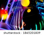 3d Render Of Abstract Art With...