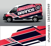 vector design of delivery van.... | Shutterstock .eps vector #1865205949