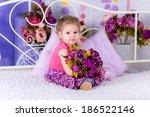 adorable smiling little girl... | Shutterstock . vector #186522146