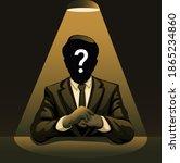 Mysterious Man Under Spotlight. ...