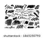 set of pencil or charcoal brush ... | Shutterstock .eps vector #1865250793