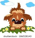 puppy . | Shutterstock .eps vector #186528143