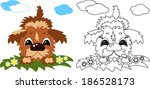 puppy  coloring | Shutterstock .eps vector #186528173
