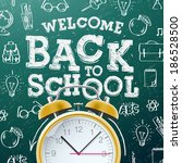 welcome back to school sale... | Shutterstock .eps vector #186528500