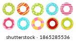 rings toys in water vector... | Shutterstock .eps vector #1865285536