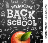 welcome back to school sale... | Shutterstock .eps vector #186528893