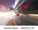 car on the road with motion... | Shutterstock . vector #186531179