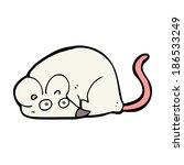 cartoon white mouse | Shutterstock .eps vector #186533249