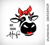 cute cow  red lips with bandana ...   Shutterstock .eps vector #1865334529