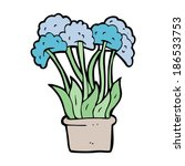 cartoon flowers in pot | Shutterstock .eps vector #186533753