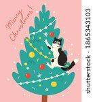 christmas card  banner or...   Shutterstock .eps vector #1865343103