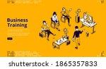 business training banner.... | Shutterstock .eps vector #1865357833
