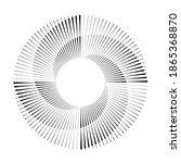 radial speed lines in spiral... | Shutterstock .eps vector #1865368870
