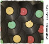 vinyl record old background   ... | Shutterstock . vector #186537548