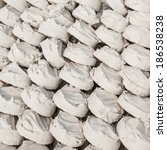 Small photo of Soft-prepared chalk or clay rich in alumina or white clay filler. It is powder use for face or body. Or for major festival for example Songkran festival