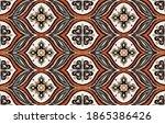 ikat border. geometric folk...   Shutterstock .eps vector #1865386426