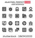 user interface glyph icon set....