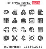 money glyph icon set. dollar ...