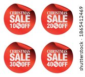 christmas sale stickers set 10  ... | Shutterstock .eps vector #1865412469