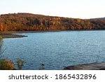 After Glow on an Autumn Lake.  Destination Lake Scranton in Scranton,Pennsylvania
