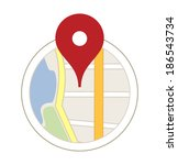 map with a pin | Shutterstock .eps vector #186543734
