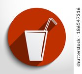 vector juice glass web icon ... | Shutterstock .eps vector #186547316