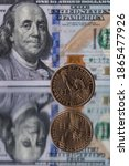 A 1 American Dollar Coin...