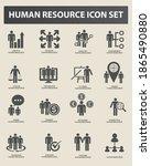 human resource vector icon set | Shutterstock .eps vector #1865490880