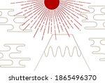 mt. fuji new year's card...   Shutterstock .eps vector #1865496370