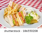 Sandwich With Salad  Deep Frie...