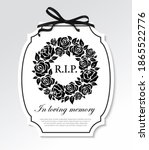 funeral frame with black...   Shutterstock .eps vector #1865522776