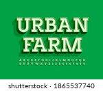 vector modern logo urban farm...   Shutterstock .eps vector #1865537740