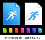 sprint icons on colorful paper...   Shutterstock .eps vector #186553799