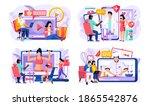 set of illustrations on the...   Shutterstock .eps vector #1865542876