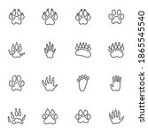 animals paw print line icons...   Shutterstock .eps vector #1865545540