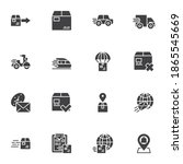 express delivery service vector ...   Shutterstock .eps vector #1865545669
