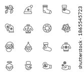 winter related line icons set ...   Shutterstock .eps vector #1865545723