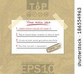 eps10 vector illustration paper ... | Shutterstock .eps vector #186554963