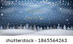 new year winter landscape with... | Shutterstock .eps vector #1865564263