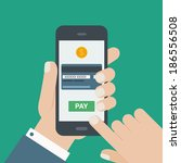 mobile payment credit card ... | Shutterstock .eps vector #186556508