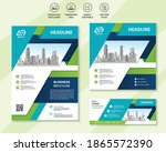 cover flyer annual report...   Shutterstock .eps vector #1865572390