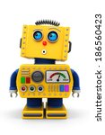 Yellow Toy Robot Is Looking...