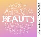 line web banner of woman... | Shutterstock . vector #1865604886