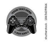 controller game logo  vector... | Shutterstock .eps vector #1865609866